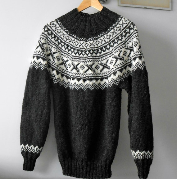 Fair Isle Christmas Sweater.Fair Isle Men Sweater Ugly Christmas Sweater Scandinavian Style Custom Made Knit Jumper Made To Order Pullover Xmas Gift For Him