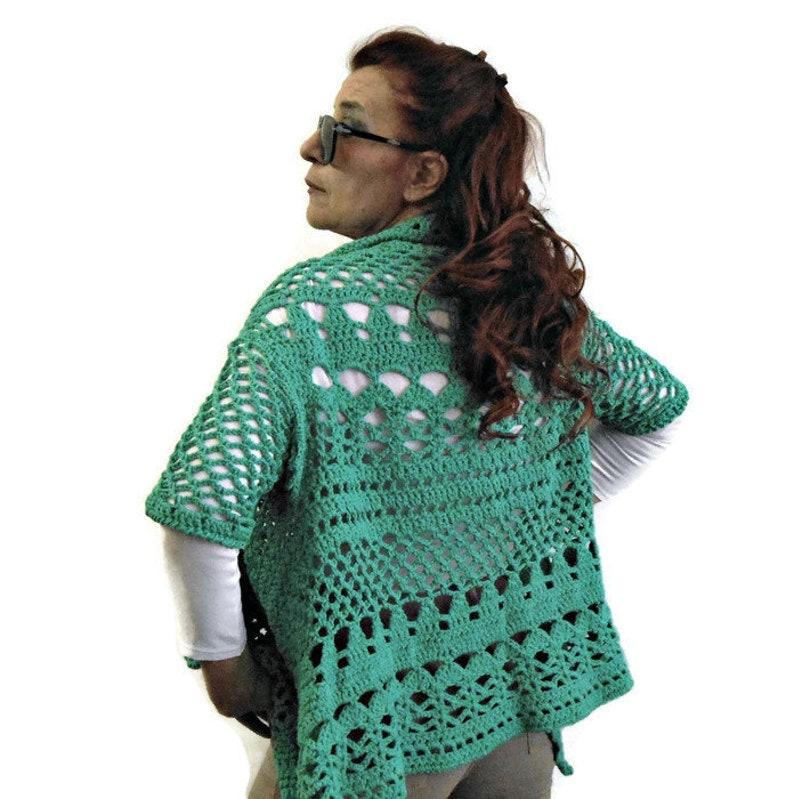 Giacchino Traforato A Crochet Cardigan In Cotone A Uncinetto Etsy