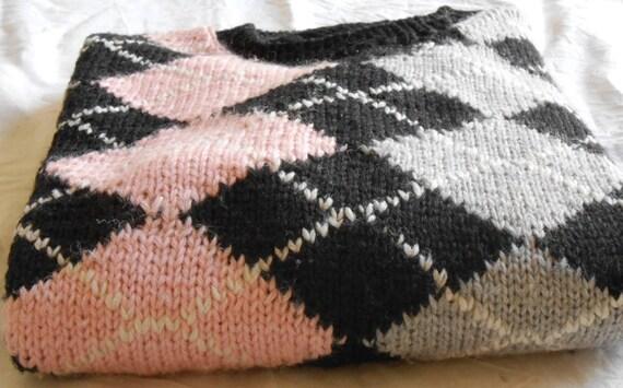 salvare a68c8 9cd33 Maglioni Tartan su misura, maglioni da uomo scozzesi stile Argyle in Pura  lana Merino, pullover fatti a mano, maglia a rombi su ordinazione