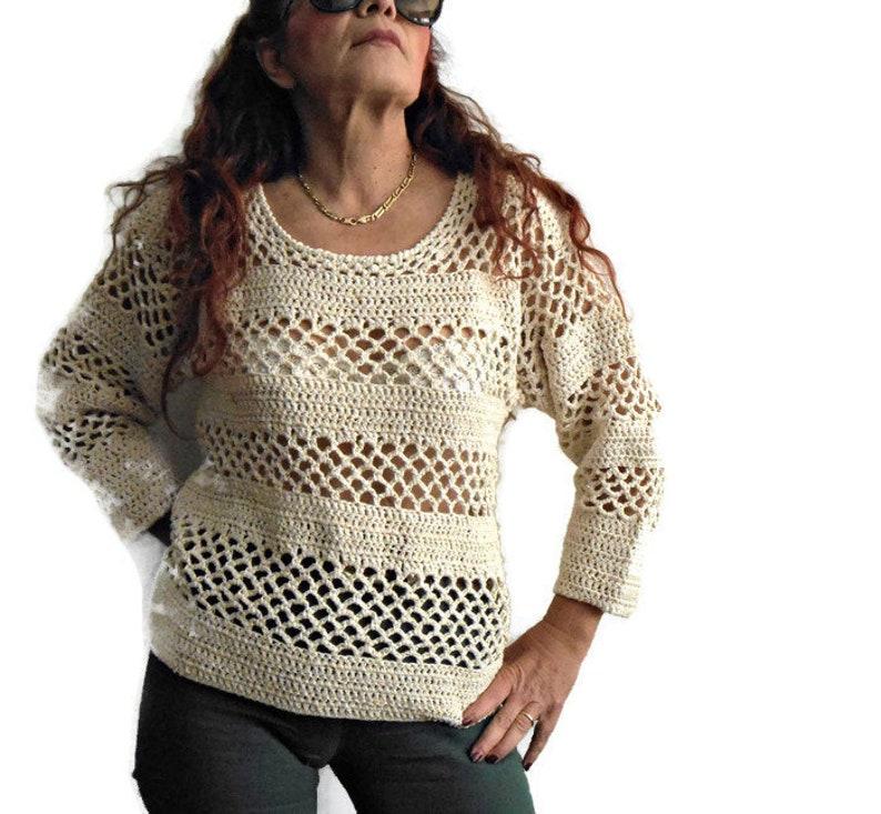 Maglietta A Uncinetto Cotone E Alpaca Copricostume A Crochet Etsy