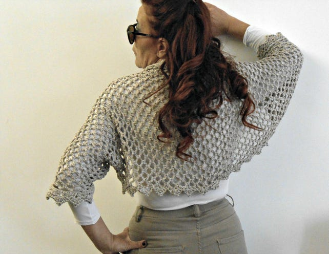 Schal häkeln Baumwolle und Alpaka häkeln Schal Bolero | Etsy
