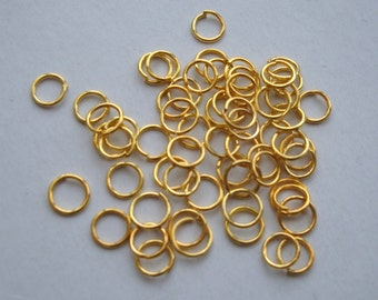 Gold plated jump rings 5mm jumprings pack of 200 thin