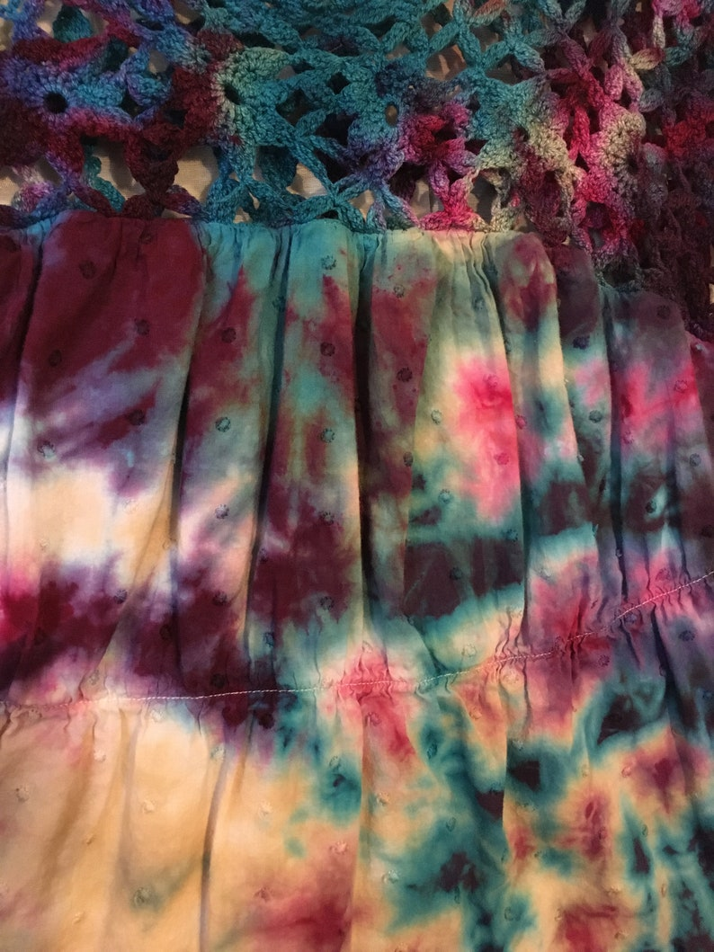 Tie Dyed Womens Blouse Tie Dyed Old Navy Blouse Womens Size M