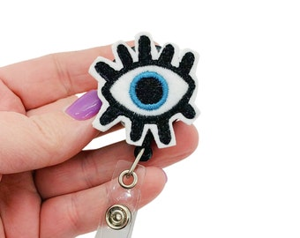 Eyeball Badge Reel Unique Badge Cute Badge Feltie Interchangeable Badge Reel