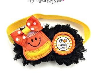Halloween Bow, Halloween Hair Bow, Halloween Hairbow, Halloween Hair Clip, Halloween Baby, Halloween Headband, Candy Corn Bow