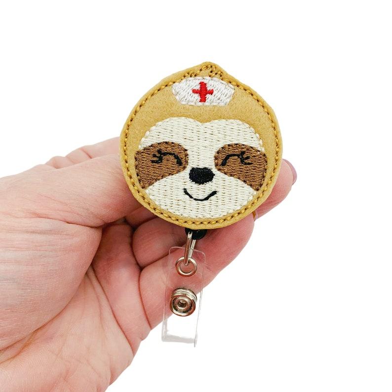 Sloth Badge Clip Nurse Badge Reel Sloth Badge Reel Sloth Badge Holder Sloth Lover Gift,Sloth Badge Sloth ID Badge Sloth ID Reel