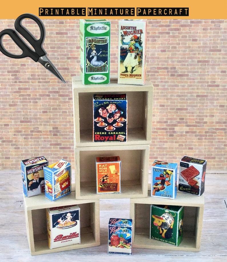 Puppenhaus Miniatur 1:12,Bastelbogen 5 Tragetaschen  Sweet Dreams Puppenstuben & -häuser