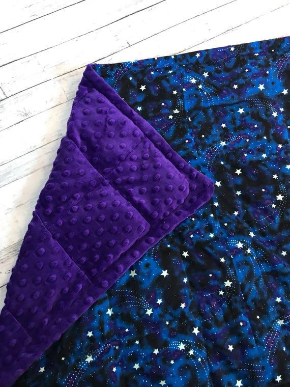 Weighted Blanket Glow In The Dark Stars 35x40 40x60 Child Etsy