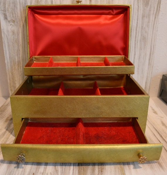 Mid Century Mele Jewelry Box, Lady Buxton Jewelry