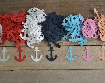 "Anchor Cutouts, Confetti, Card Confetti,Scrapbooking, Craft Supply, Embelishment, Nautical (1"")   100 Pieces"