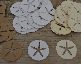 """Sand Dollar Punches, Sand Dollar Cut Outs, Card Confetti, Scrapbooking, Embellishments (3/4"""") 