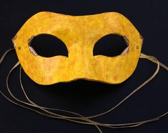 Golden Yellow Masquerade Mask