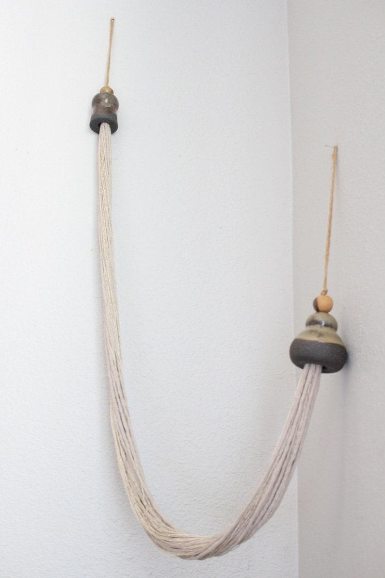 Ceramic Tassel Wall Hanging ceramic beads Stoneware,ceramic art modern tassels sculpture string art one of a kind tassel art