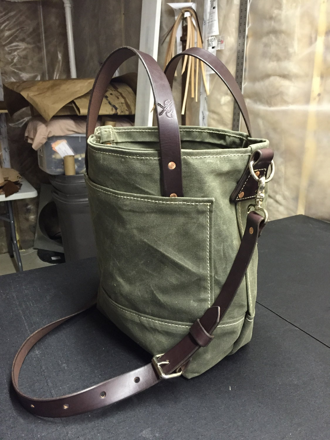 a8e739599f9a Handmade Waxed Canvas Tote Bag   Waxed Canvas Bags   Carry
