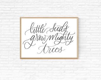 Printable Quote- nursery wall hanging- 8x10- download