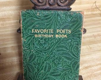 Vintage Rare Favorite Poets Birthday Diary Anniversary Book Journal !930's Shabby Chic