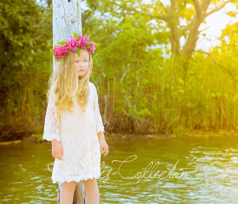 316e03f4c3 The Chloe Ivory Flower Girl Lace Dress Birthday Dress made