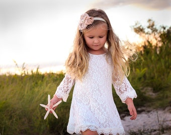 Chloe flower girl dress ivory flower girl dress girls lace dress lace dress toddler lace dress boho flower girl dress flower girl dress lace