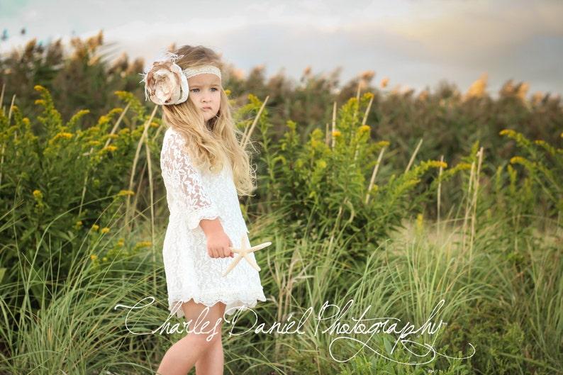 072d01273 Chloe Lace Flower Girl Dress-Christening Baptism Dress-Rustic | Etsy