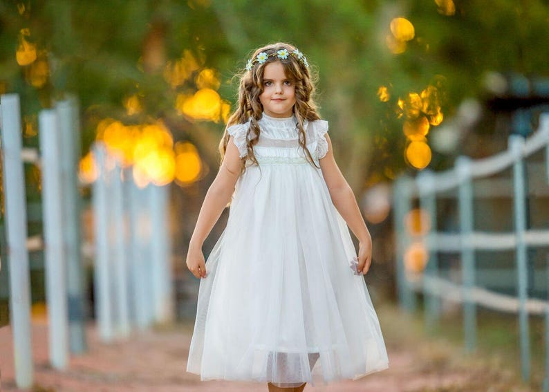 cbb30c8e2a Alexandra flower girl dress ivory flower girl dress girls