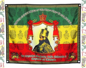ee00cb58 Royal Coronation [drs]Tapestry Flag Banner Haile Selassie I Reggae  Rasatafari Lion of Judah Ethiopia Roots Dub King Jah