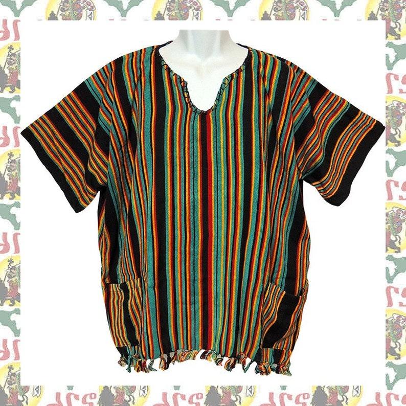 Ethiopian Traditional Wolayita Shirt Size- L (m-a184) Reggae Roots Dub  Africa Jamaica Jah Rastafar