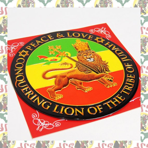 Metal Art Magnet Lion Of Judah Reggae Roots Dub Jamaica  5e9f61a3829
