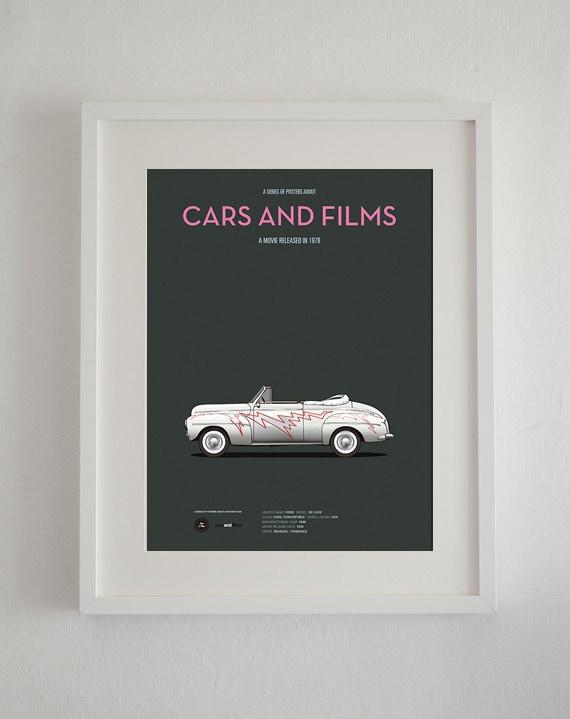 Poster GreaseMovie Cartel Films And De Del Coche Película A3 La Cars EIWH2D9