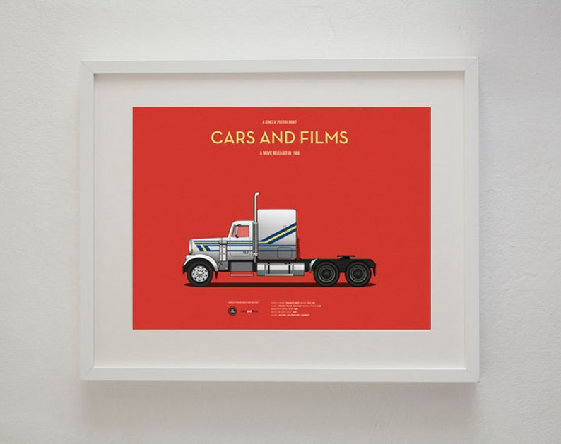 Big Trouble In Little China Truck Movie Poster Art Print A3 Etsy