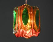 Extraordinary 60s Italian Pop Art pendant lamp made of heavy Plexiglas