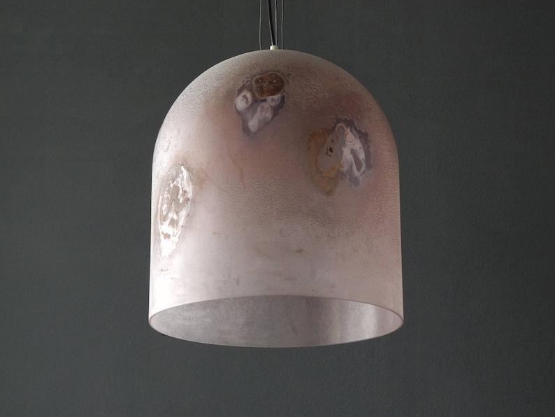 Lampade In Vetro Anni 70 : Originali anni lampada a sospensione di vetro xxl etsy