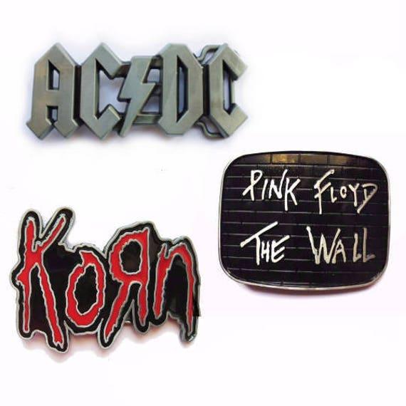 21a23e9012b4 Boucle de ceinture AC DC Korn Pink Floyd grosse   Etsy