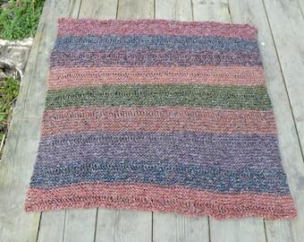 Hand Knitted Rug/Blanket