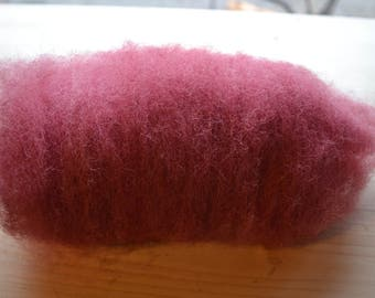 Hand Dyed and Carded Merino Lambs Wool.
