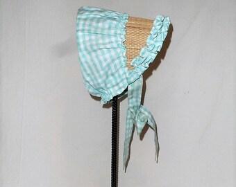 Handmade Straw BONNET-Bonnet-Authentic Vintage Amish Mennonite Ladies Head  Covering-Summer Bonnet-Ties-Religion-Orphaned Treasure-Q041218T 9db78817d24f