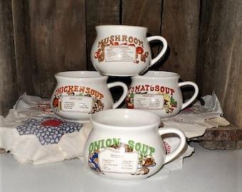 Recipe Soup Mugs Etsy