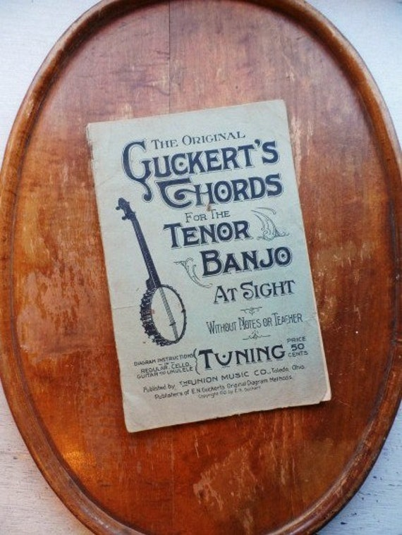 1921 Original Guckerts Chords For The Tenor Banjo At Etsy