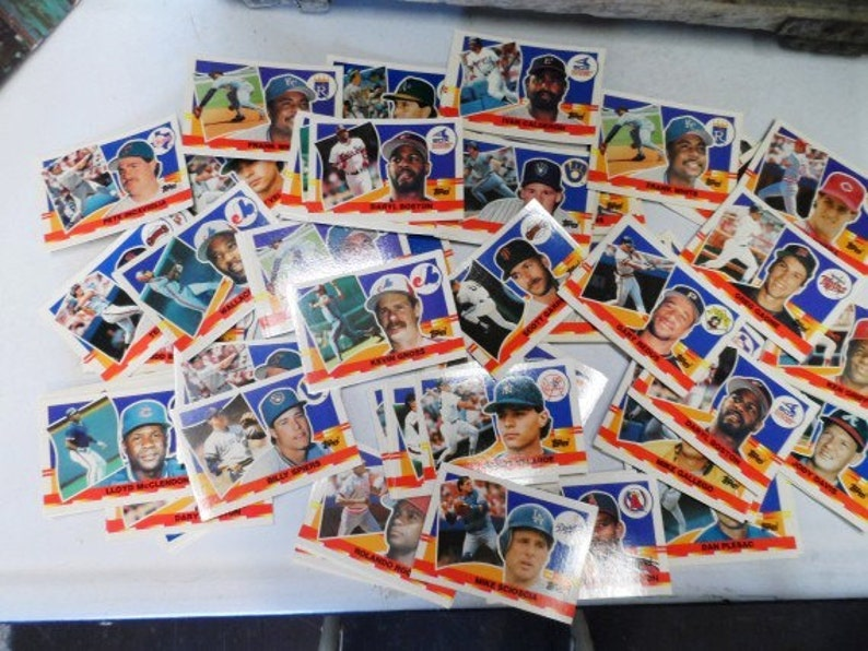 Large Stack Of Baseball Cards Topps Ball Cards Sports Memorabilia Collectible Ball Cards Collection Vintage Sports Cards Orphaned Treasure