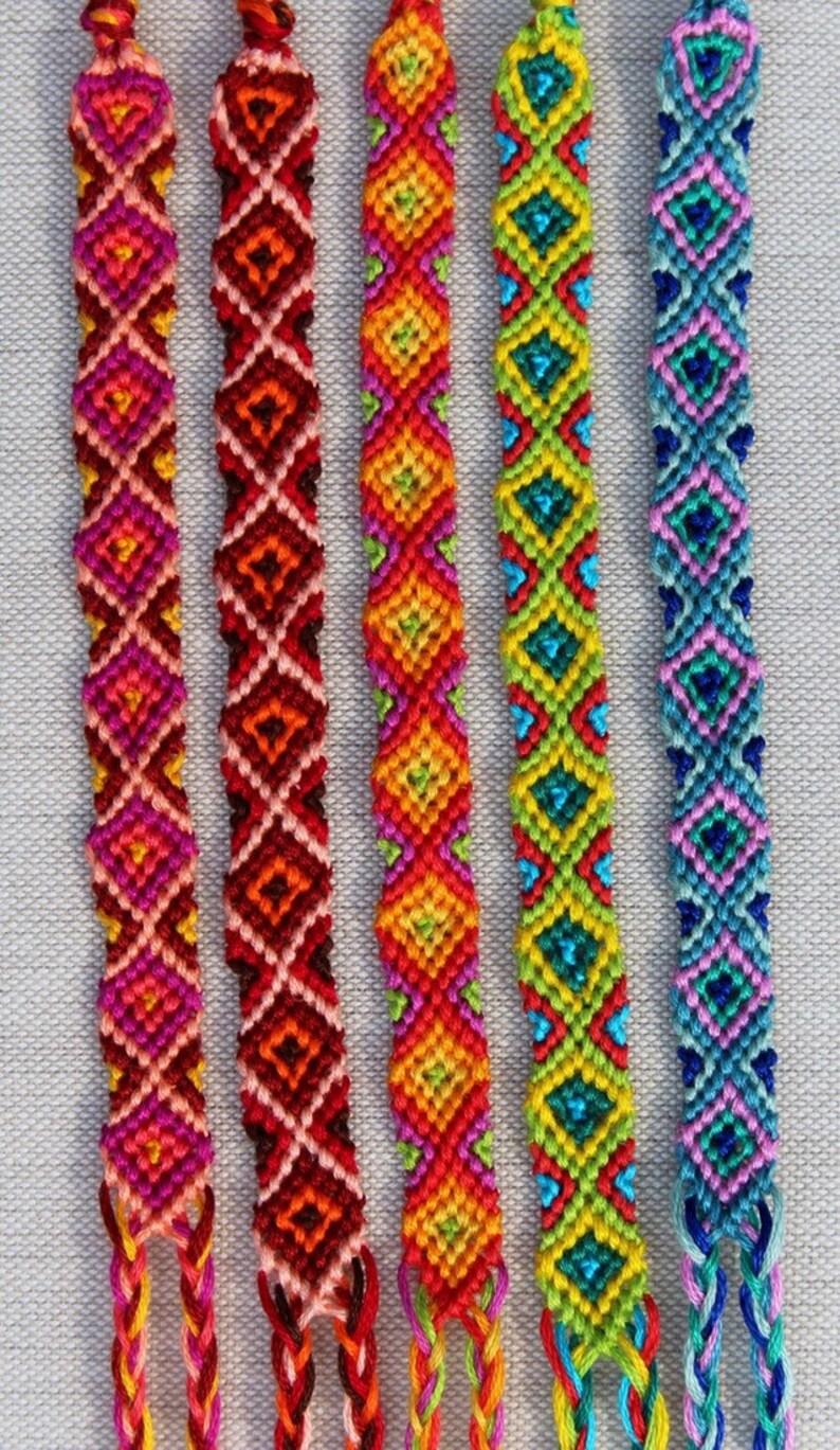 67ed9627cb505 Diamond Pattern Friendship Bracelets/Friendship Bracelet