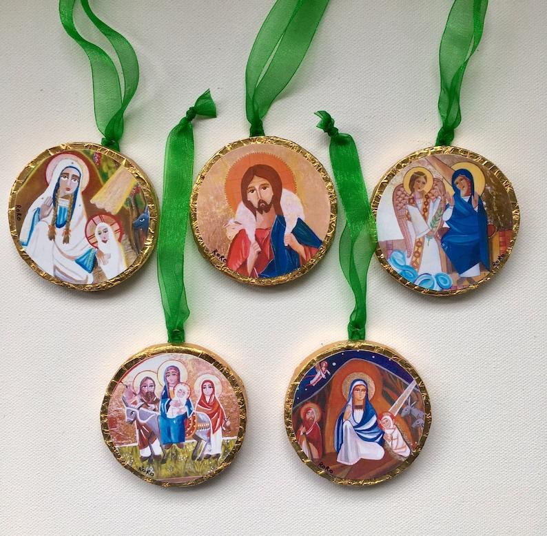 Miniature Christmas Ornaments.Quodlibet En Miniature Christmas Ornaments Print Of My Original Icons Painting