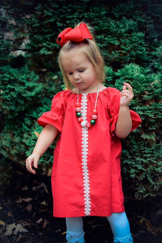 Girls Christmas Dress Girls Christmas Outfit Girls Red Etsy