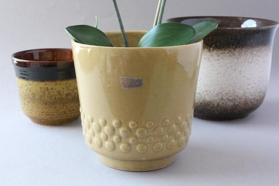 60er 70er Blumentopf Vintage Ubertopf Keramik Keramiktopf Etsy
