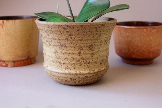 Keramik /Übertopf 15,5 x 15,5 cm creme shabby Blumentopf Topf vintage