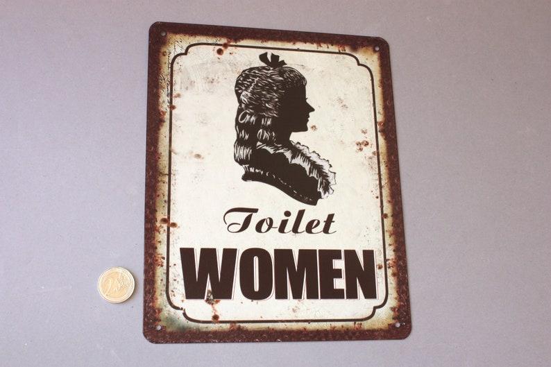 bathroom restrooms wall hanging lavatory women men face head wall plaque 1 Ladies or gents WC Toilet sign rustic door sign funny