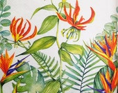 Napkin for Decoupage Tropical Flowers Collage Paper Scrapbooking Decorative Tissue Paper Crafts Decoupage