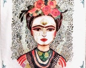Decoupage Napkin Frida Memory of the Heart Collage Paper Paper Crafts Decorative Napkin Card Making Decoupage Paper