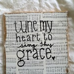 Tune My Heart 12x12 canvas