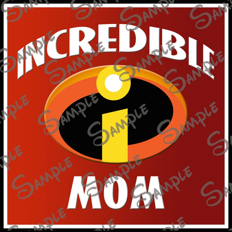 image relating to Incredibles Logo Printable named Electronic Do-it-yourself printable Unbelievable Mother with Incredibles Symbol history