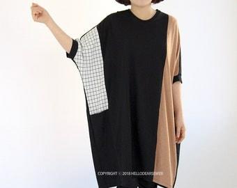 Women's PDF Sewing Pattern Knit / Jersey Dress / Jersey Tunic /Block dress - Regular fit - (sizes S-L) D02