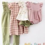 R48/ Sewing pattern / PDF sewing pattern / 4 Bundle romper, dress and bloomer / Kids sewing pattern pattern / baby sewing patterns /3M~10Y